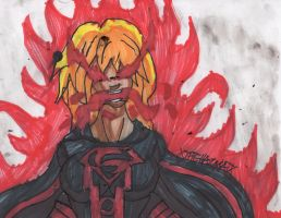 Supergirl Red Lantern by ChahlesXavier