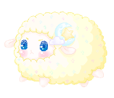 Gilbert The Dream Sheep [ANIMATED!!] by CottonCandyTokki
