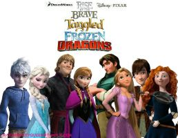 Rise Of The Brave Tangled Frozen Dragons by barbara1999