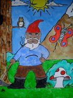 Gnome first ever painting i did i was 8 by sampson1721
