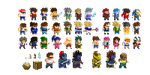 Pixelizing LF2 and LFO sprites by KaywonnJuto