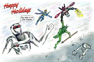 Happy Holidays from ROM and The Micronauts by csuhsux
