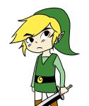 Toon Link Flat Color by yuu-kang