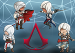 Assassin Creed chibi poster by Meeowy