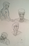 Eyeless Jack Concepts by invaderwolfgirl