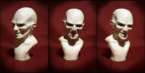 clay bust no.1 by kezeff