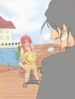 Shanks' and Buggy's Fright by Sakamoto-Ayumi