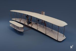 1903 Wright Flyer by grapejuice611