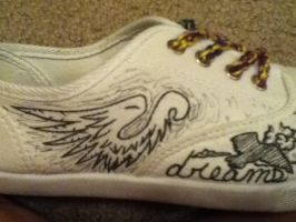 Wings on Shoes by Todniko
