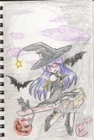 Halloween witch by kaiomutaru25