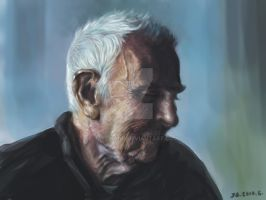 Portrait of an Old Man by jazzjiang