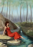 Forest Rivulet by AdriennEcsedi