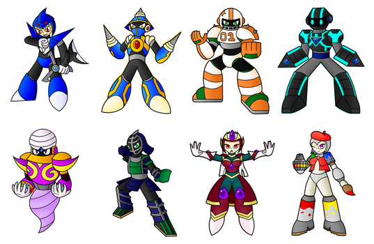 Robot Master Set 2 Completed by SnowmanEX711