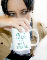 SnK Cosplay: Keep Calm and KILL Titans by mind-crash