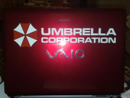 Umbrella Corporation Laptop by TwistedAlice