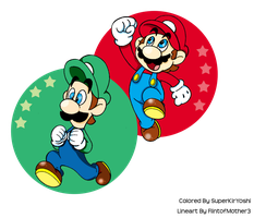 Super Mario Brothers by BunnyZiegs