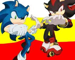 Sonic and shadow by gerarodmont