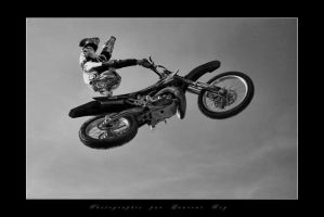 Motorbike in the sky 7 by laurentroy