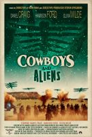 Cowboys and Aliens Aged poster by Technologetic414