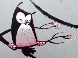 ImageSketchbook owl. 1 by atarashiidesu