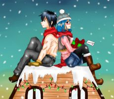 Christmas: Gray and Juvia by manu-chann