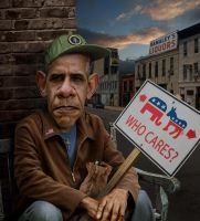 Obama caricature by funkwood