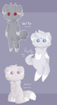 More Espurr Variations by RabbitBatThing