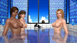 Relaxing Bath ~ Hitomi, Lisa and Tina by Torker88