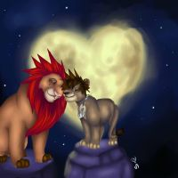 sora and axel lion redraw by Vollatina