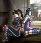 Sango and Hinata bound and gagged (otm gag) by Mariana-chan4