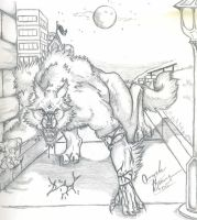 My Werewolf Form by RedTalons by Weres-United-Club