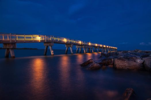 Cape Canaveral Pier by TabithaS-Photography
