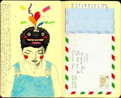 Imaginary Friend1 - journal 19 by LadyOrlandoArt