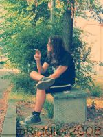 Cigarette in the wood by CarmenTheRiddLer