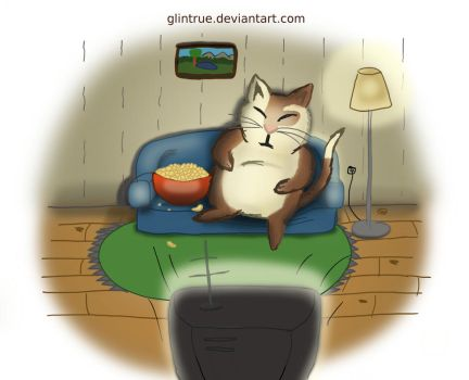 Couch Cat by GlinTrue