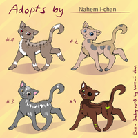 Kitty Adoptables - moved by Nahemii-chan