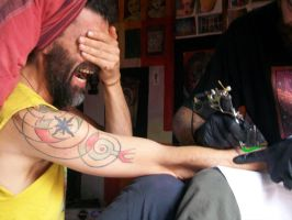 tattoing saeed by santosam81