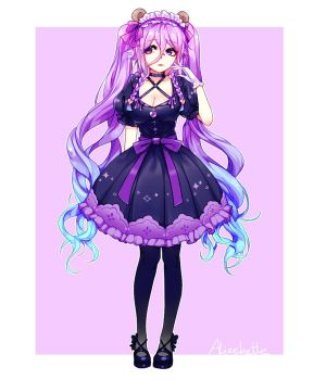 ArtTrade with Umi-chan by Alizebette