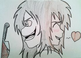 Jeff the Killer and Normal Jeff by BeautifulFlowerZ