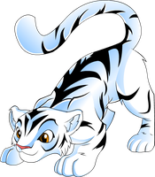 Jade the white tiger by megadrivesonic