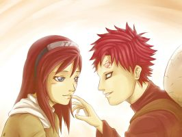 Kasumi and Gaara by MauroIllustrator