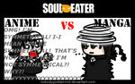 Soul Eater Anime vs. Manga : Death the Kid by nobodygoddammit
