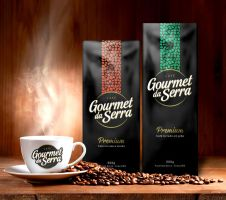 Coffee Gourmet da Serra - Logo and packaging by tutom