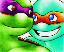 Donnie N Mikey by zims-lost-soul