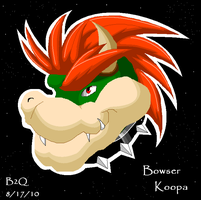 Bowser's Head by Bowser2Queen