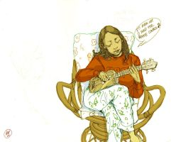 Erika and her Ukulele friend 2 by deadlymike
