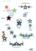 Star Tattoo Designs by munchtr