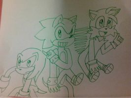 Sonic Team by amychibiwover