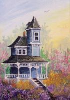 ACEO Victorian in Blue by annieoakley64