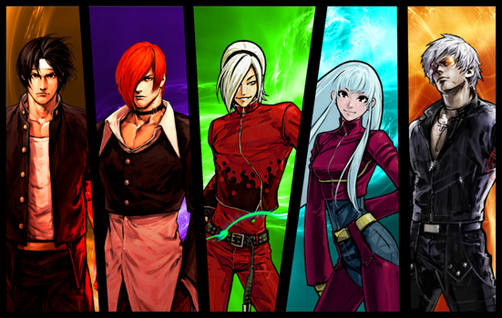 KOF Main Characters (94-XIII) by topdog4815